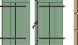 Volet à emboîture et clés